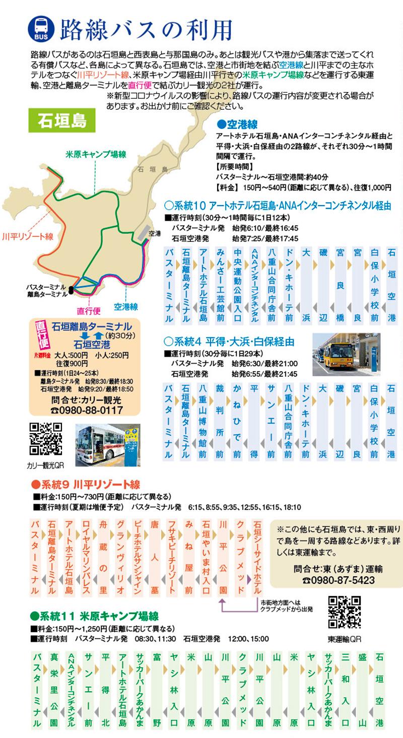 石垣島島バス路線図・時刻表